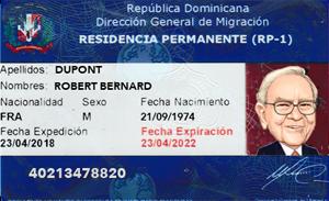 Tarjeta Residencia República Dominicana