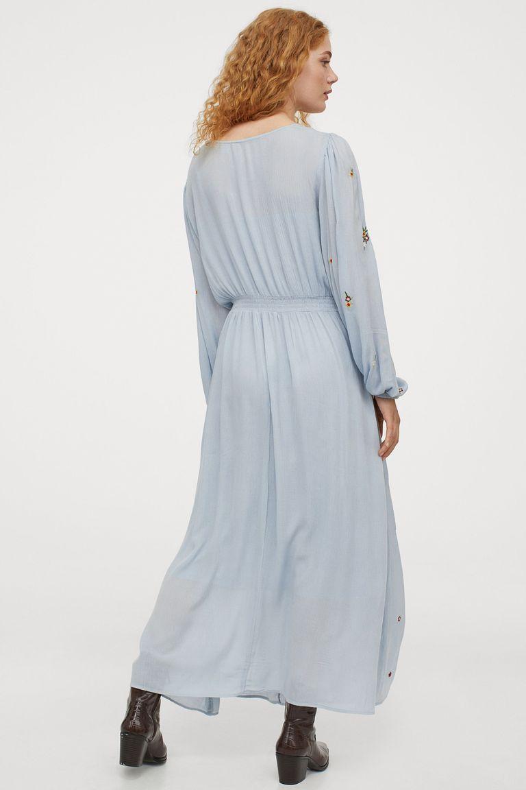 Vestido Largo Hym Bordado Bohemio